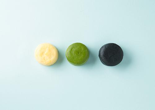 画像: 左からクリーム・宇治抹茶・竹炭と濃チーズケーキは3種類あります shop.senkien.jp