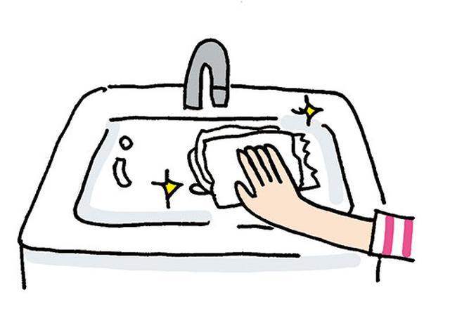 画像: トイレットペーパーで拭き取ればピカピカに。 イラスト/すぎうらゆう