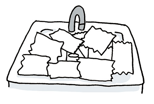 画像: 水にぬらしたトイレットペーパーで湿布する。 イラスト/すぎうらゆう