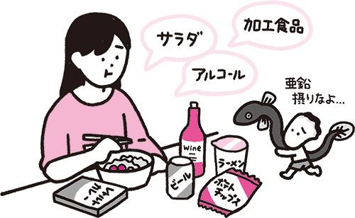 画像: 亜鉛を減らす食材は意識して避けて!