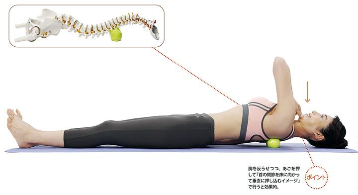 画像3: 肩甲骨のテニスボールストレッチのやり方