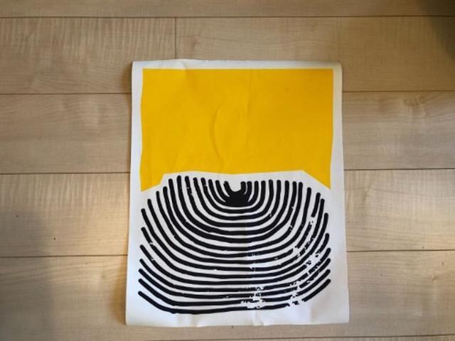 画像: 届いた抽象画ポスター