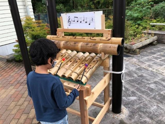 画像: 竹の木琴
