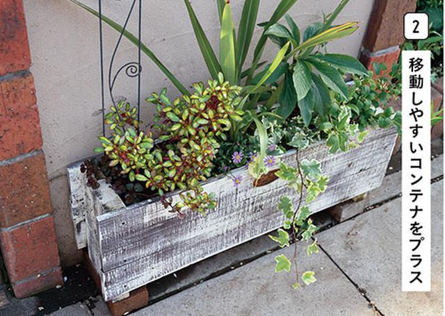 画像2: 花壇とコンテナを活用しておしゃれに演出