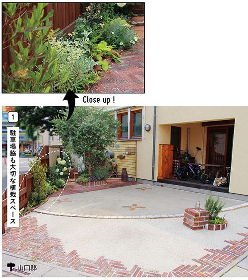 画像1: すき間やデッドスペースに緑をあしらう 植栽演出で駐車場が素敵な庭空間に!
