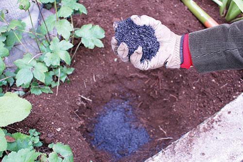画像1: 水はけの悪い場所は「木炭」を敷く