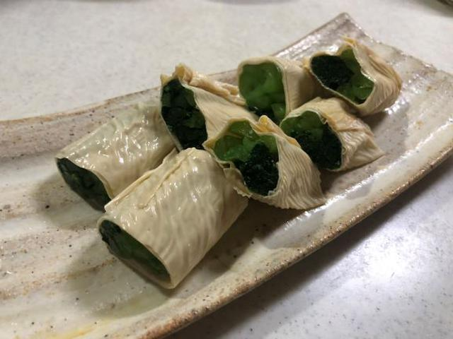 画像: おひたしをゆばで巻くだけで京風の料理に!