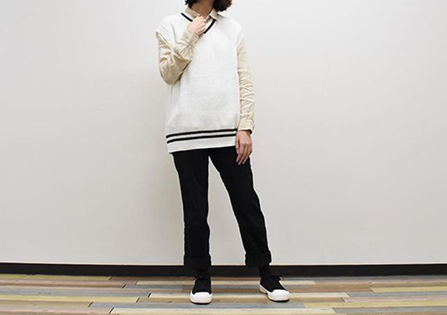 画像: 幅広いファッションに合う「オーバーサイズVネックベスト」