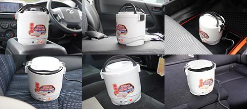 画像: 各車内で一斉にご飯を炊いている様子です。大きなスペースとクルマが6台も必要ですが、地味なテストです。