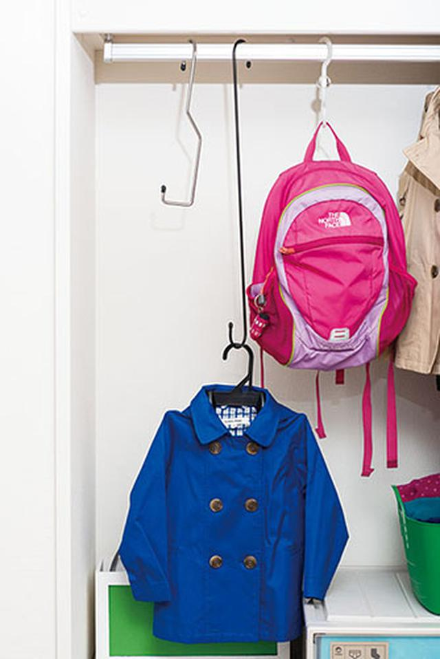 画像: バッグなどで仕切ってなわばりをつくる