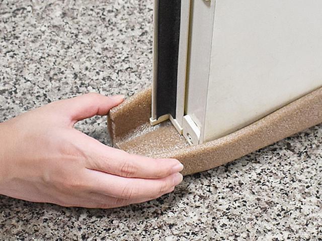 画像: ドアの隙間にぴったりフィット