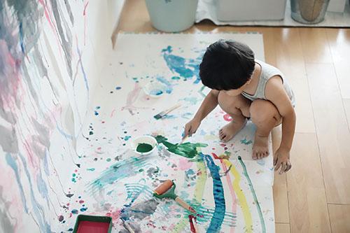 画像: 模造紙お絵かき