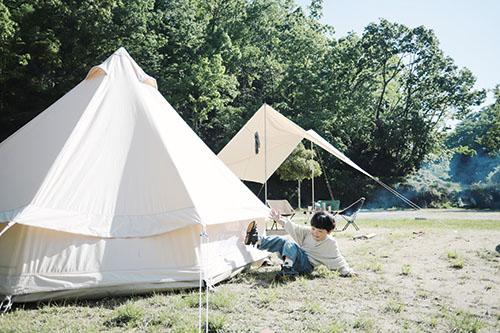 画像: テントはレンタルからスタート