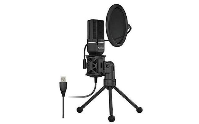 画像: 性能コンデンサーマイクコアを搭載している。単一指向性で、周囲の雑音を極力抑えて収音する。