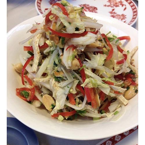 画像: 葱油を使った白菜の和物(外処さん提供)