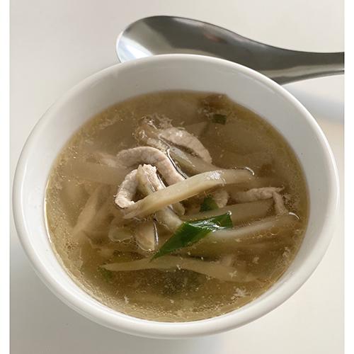 画像: ザーサイと千切り豚肉のスープ(外処さん提供)