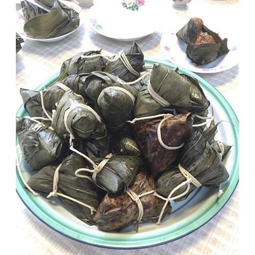 画像: 干し海老をつかった肉粽(外処さん提供)