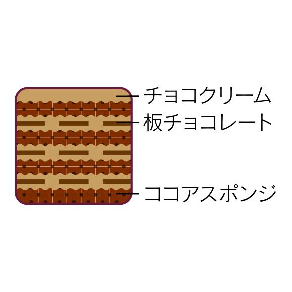 画像: チョコクリームとパリパリ食感の板チョコレート、ココアスポンジが交互に www2.chateraise.co.jp