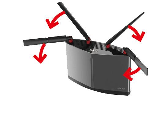 画像2: アンテナ外付けタイプなら、向きを変えるだけでスピードアップも!