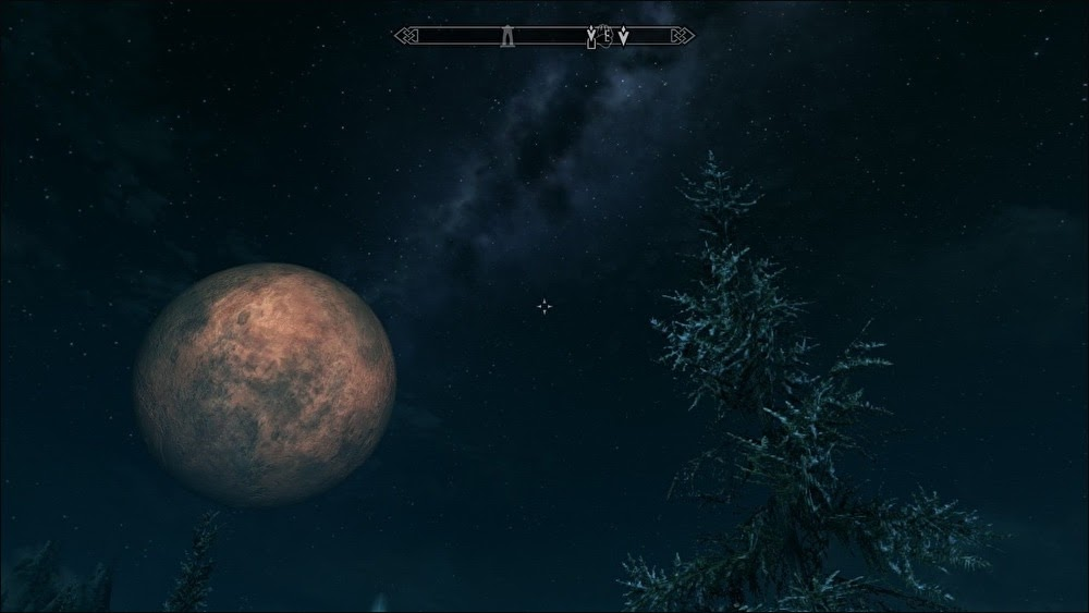 画像: スカイリムの夜空