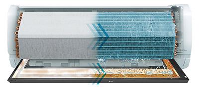 画像: ▲熱交換器・排水トレー自動お掃除