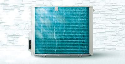 画像: ▲室外熱交換器自動お掃除