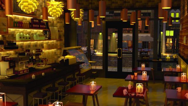 画像: The Atmosphere of a Coffee Shop on a Rainy Night, jazz music, and the sound of rain.- 8 Hours youtu.be