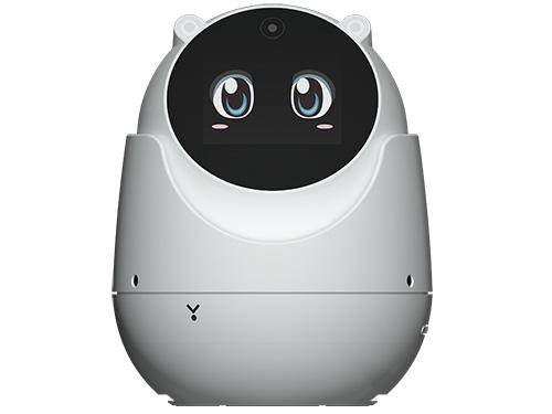 画像: 左右340°、上下40°の広い視野を確認できるカメラ内蔵見守りロボット。月額利用料なしのネットワークカメラとして使えるだけでなく、テレビ電話機能なども備えている。
