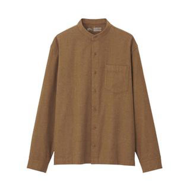 画像: 【無印良品】冬のシャツコーデにおすすめ!ヤク入りコットンスタンドカラーシャツ購入レビュー