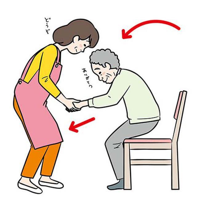 画像2: 体に優しい介護はAとBどっち?
