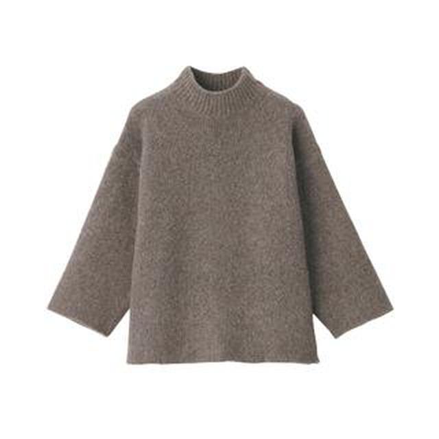 画像: 【無印良品】タートルより首元すっきり!チクチクしない「ヤクキャメル入りモックネックセーター」購入レビュー