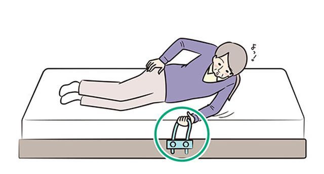 画像: ②上体を起こして 片ひじ立ちになる