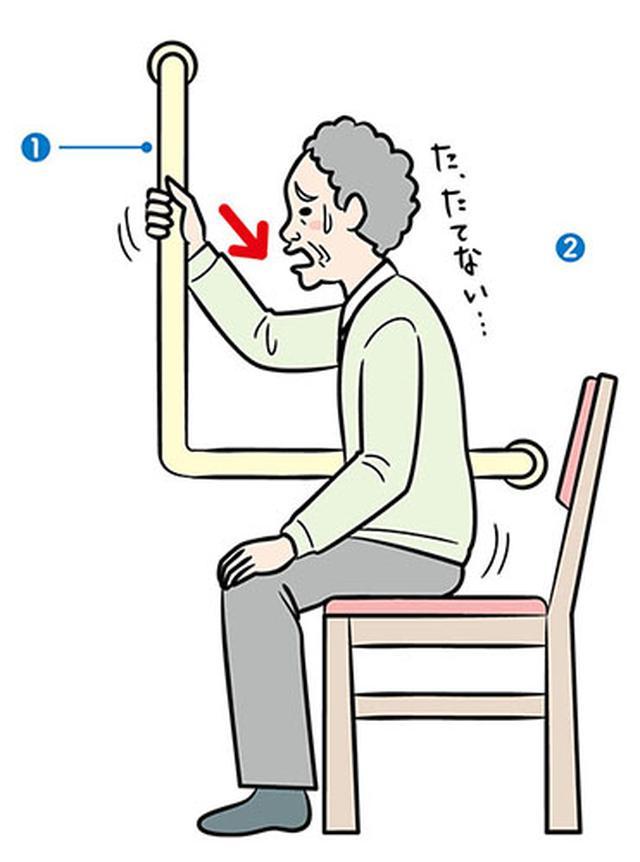 画像: 立ち上がり介助の勘違い L字型の手すりを 取り付けていませんか?