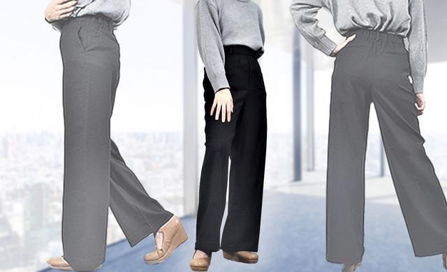 画像1: 【ユニクロ】ハイウエストワイドストレートパンツ購入レビュー 足が細くキレイに見える