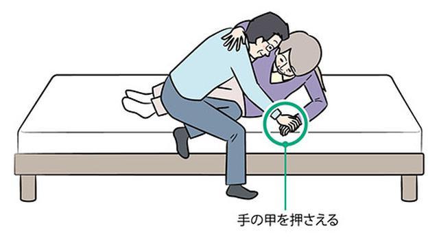 画像: ②ひじを曲げて片ひじ立ちになる