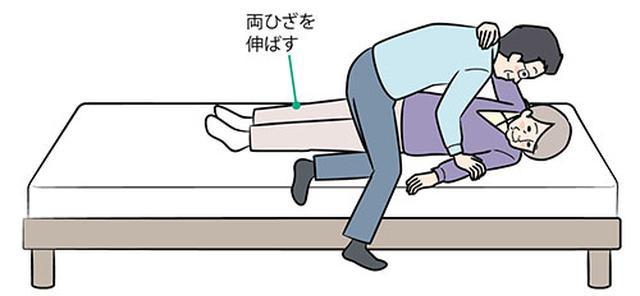 画像: ④上向きに寝かせる