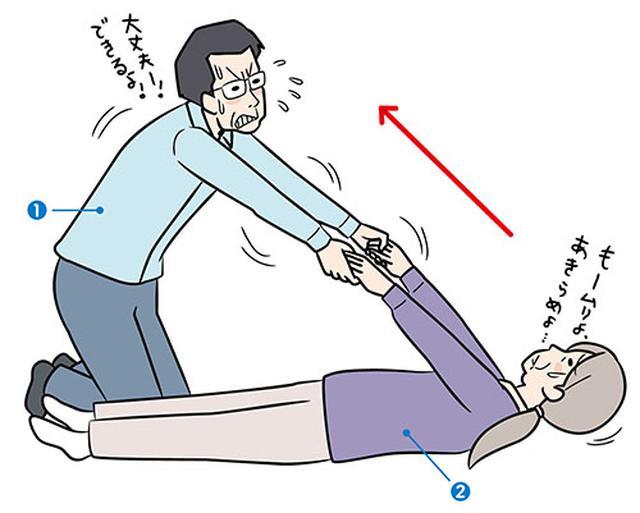 画像: 起き上がり介助の勘違い お年寄りを、直線的に 起き上がらせていませんか?