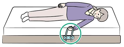 画像: ①ロープを握る
