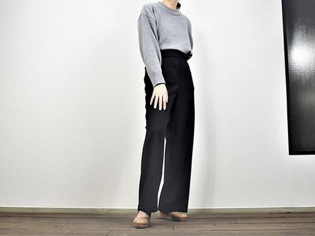 画像: 気軽に履ける「ハイウエストワイドストレートパンツ」
