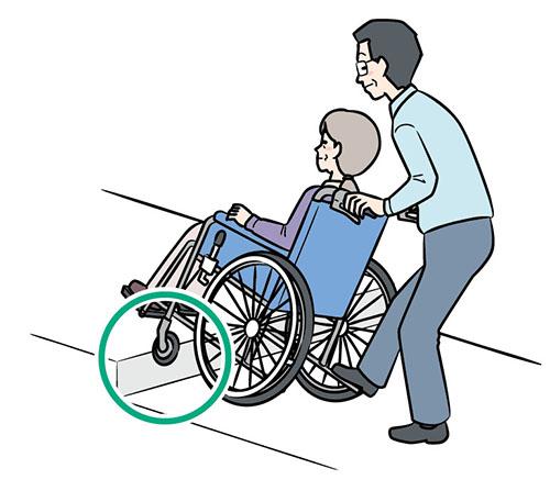 画像: ②ティッピングバーを踏んで 前輪を上げる