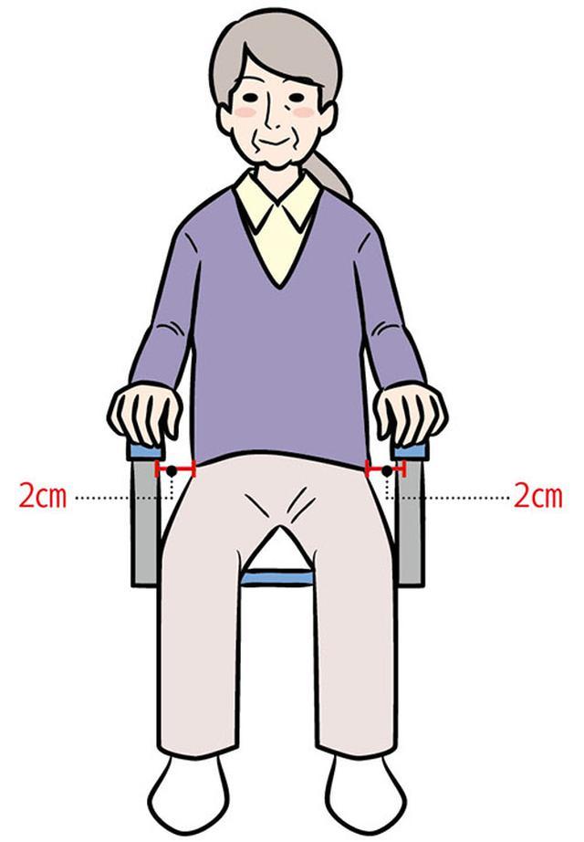 画像: ③体に合った座面の幅