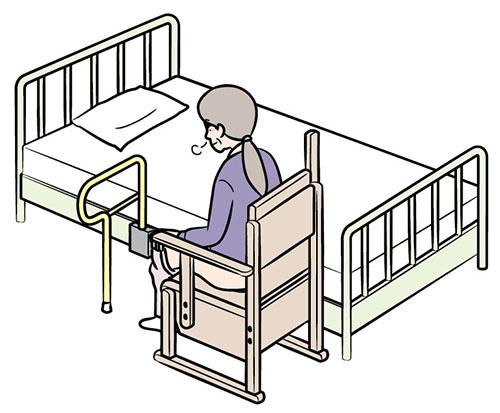 画像: ⑥便座に座って前かがみ姿勢になる