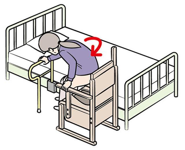 画像: ⑤体の向きを変えて便座に座る