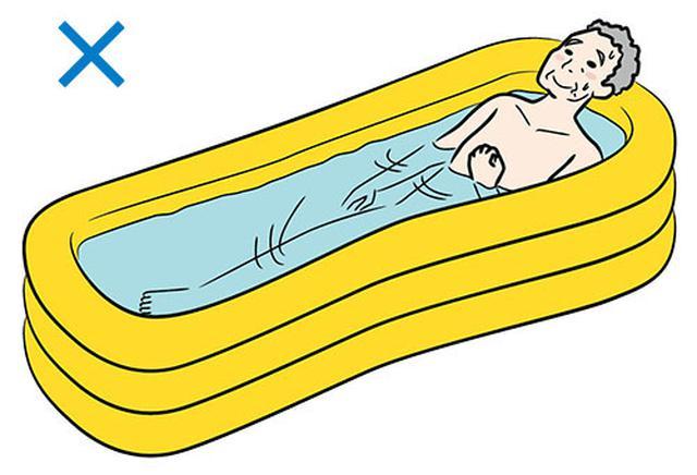 画像: ▼ゴム製の浴槽