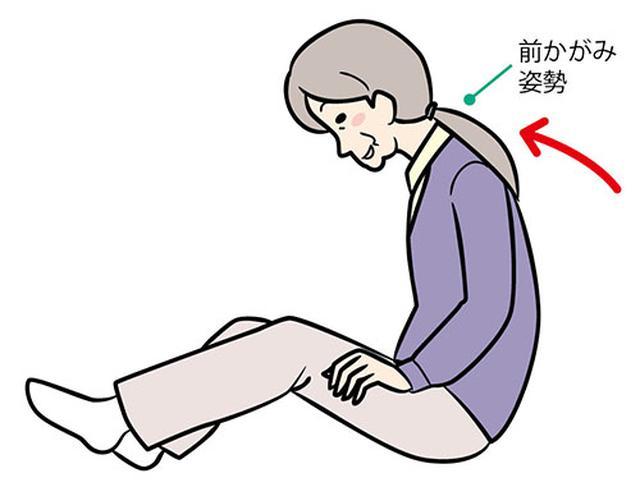 画像: ③起き上がり、前傾姿勢をとる