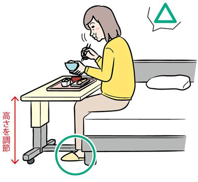 画像: 動けるなら食卓で食べる
