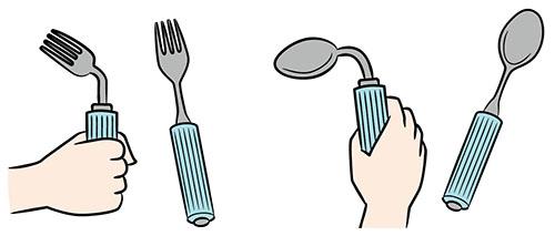 画像: ③首の部分が曲げられる スプーンとフォークを使う