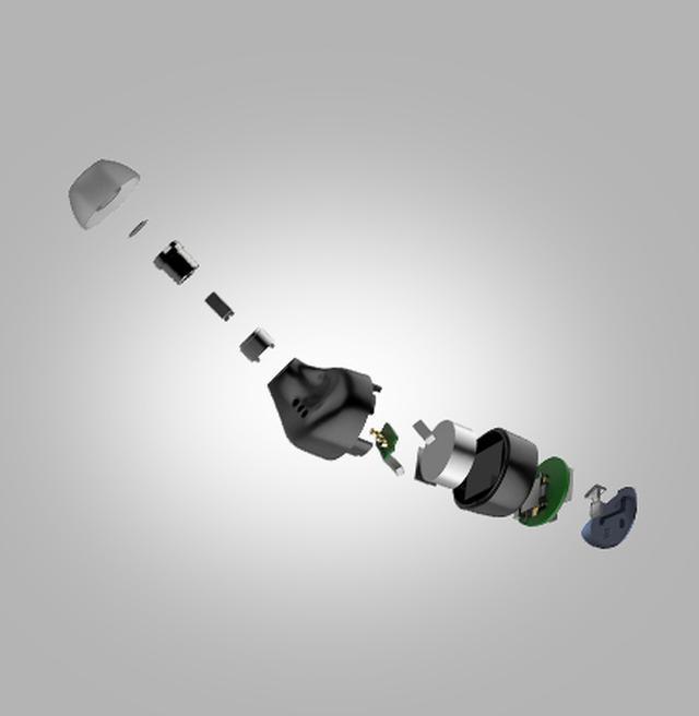 画像: ファルコン・プロの分解イメージ。コンパクトなハウジング内に3つのドライバーを内蔵する。