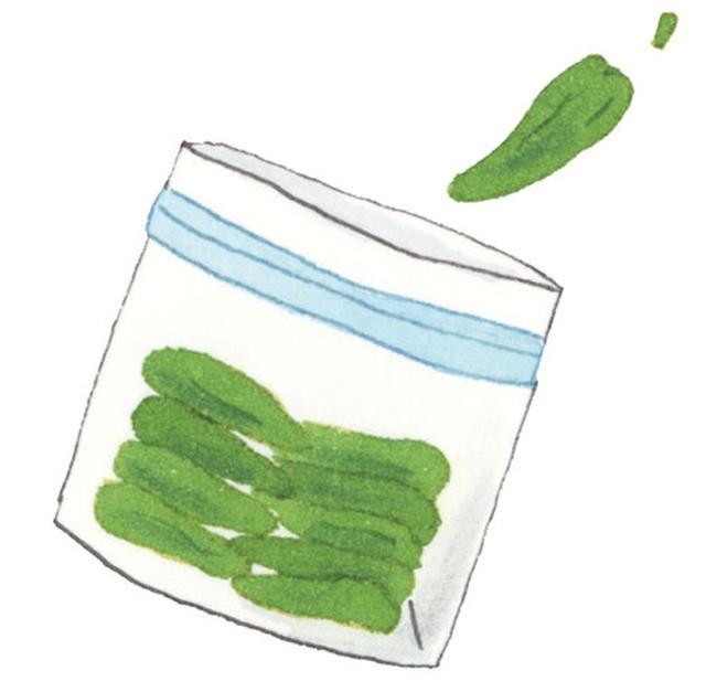 画像: へたをとって冷凍保存