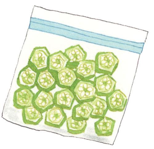 画像: 産毛を処理してから 小分けにして冷凍する